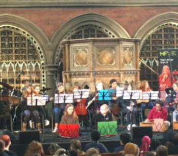 The School Band Performs at Union Chapel
